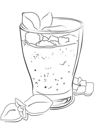Smoothie Coloring Page