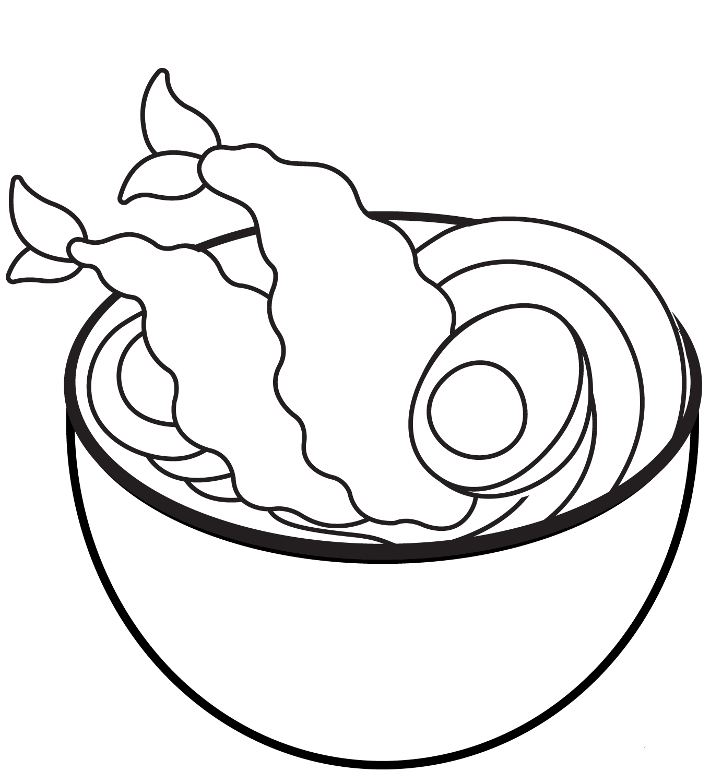 Soup coloring page