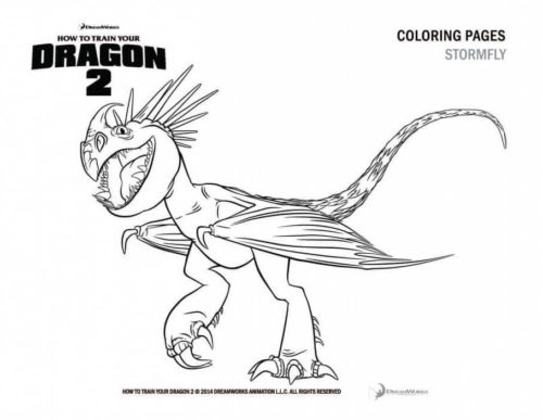 Stormfly coloring page
