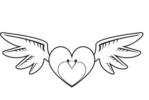 A heart shaped bird