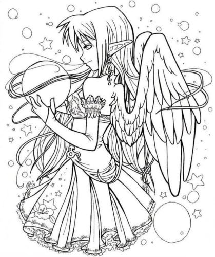 Anime Fairy coloring page
