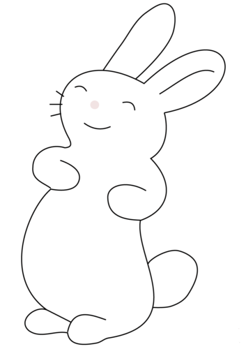 Anime animal coloring page