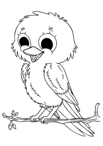 Canary coloring page