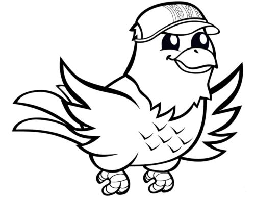Eagle with Baseball Cap