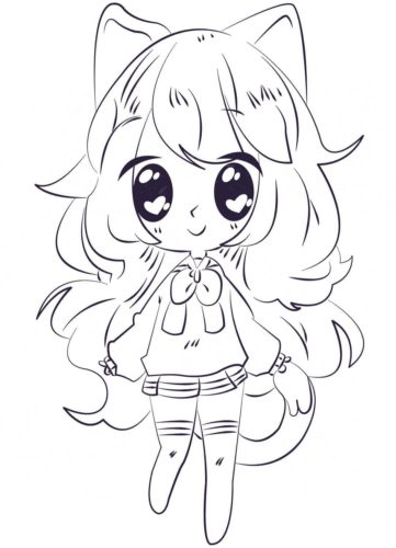 Kawaii Anime coloring page