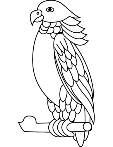 Sisserou Parrot coloring page