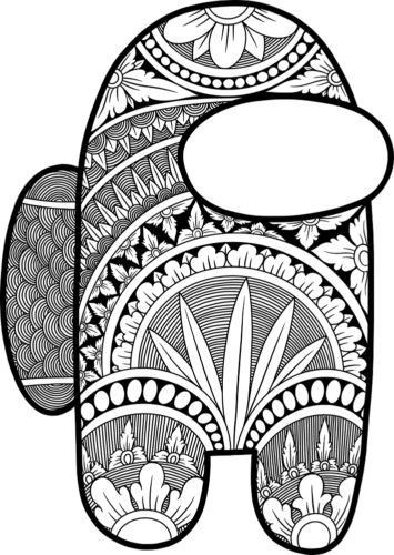 Among Us coloring pages fo adults