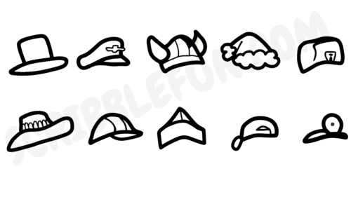 Among Us hats coloring page