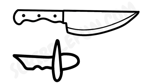 Among Us knife coloring page
