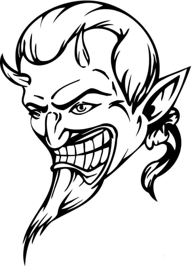 Devil coloring page