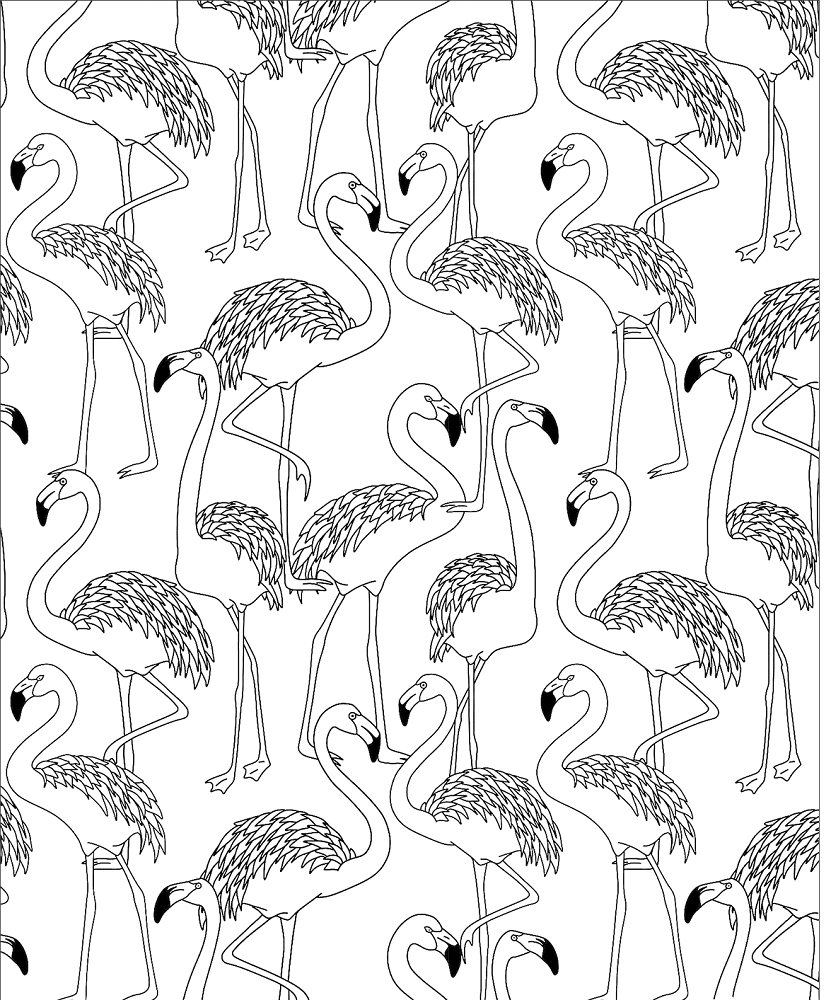Flamingos coloring pages