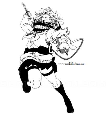 Himiko Toga in action