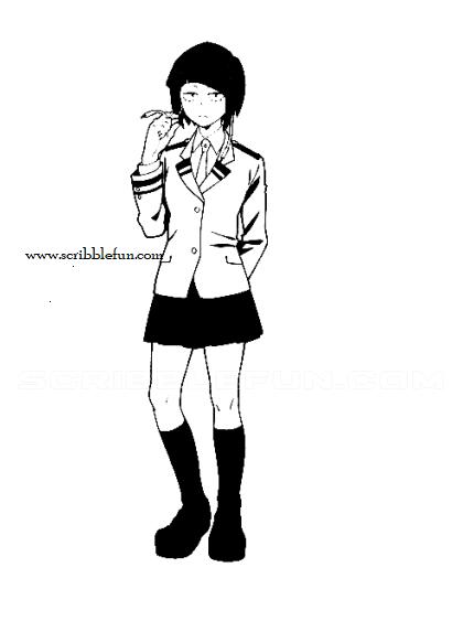 Kyoka Jiro coloring page