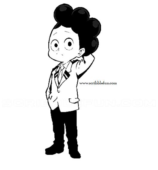Minoru Mineta from MHA Coloring Page