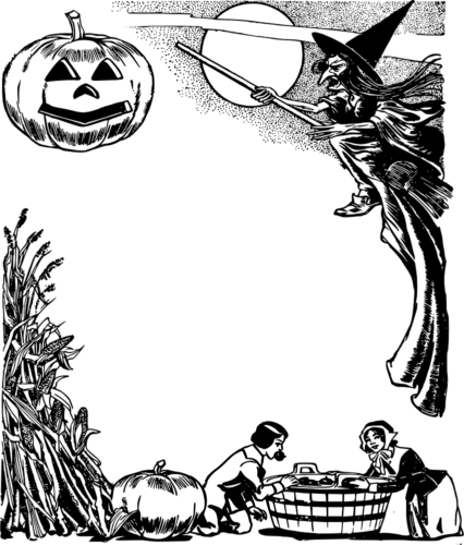 Scary Halloween coloring pages