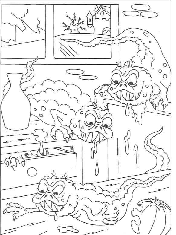 Scary Halloween coloring pages printable