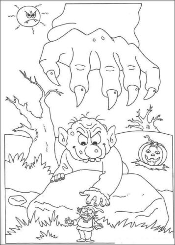Scary Halloween coloring sheets