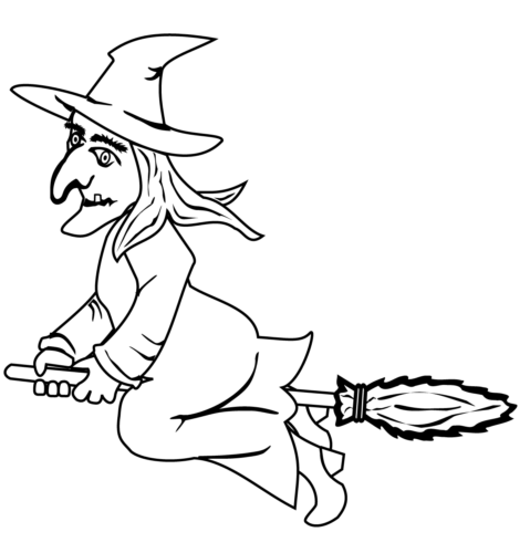 Witch on the broom