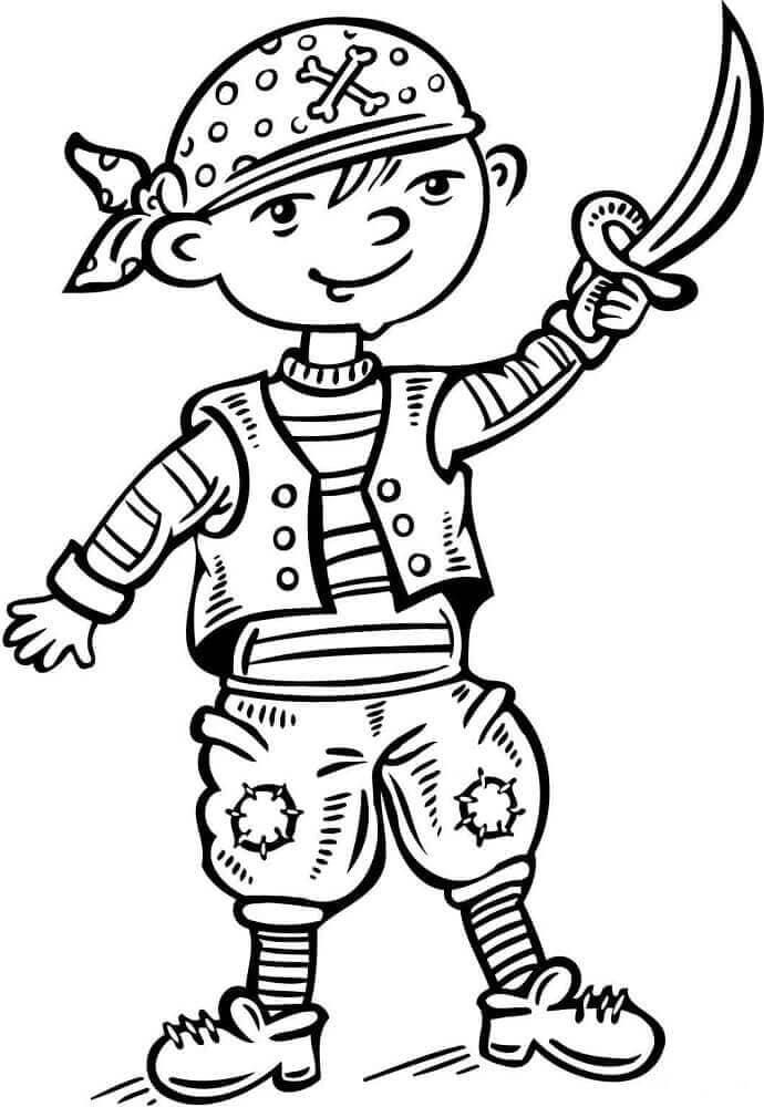 Boy dressed like a pirate
