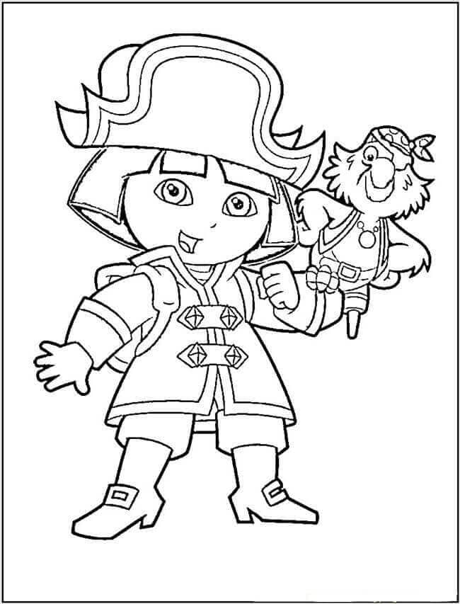 Dora dressed as a pirate