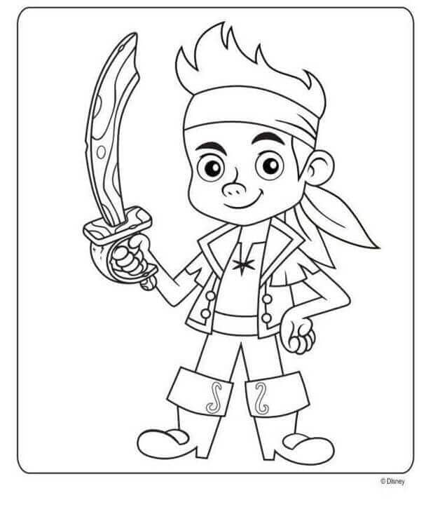 Jack the pirate coloring page