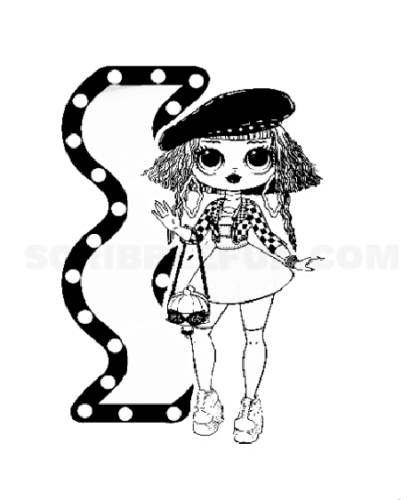 Lol Surprise OMG Doll Neonlicious coloring page