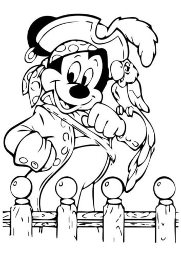 Mickey dressed as a pirate