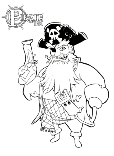 Pirate 101 coloring page