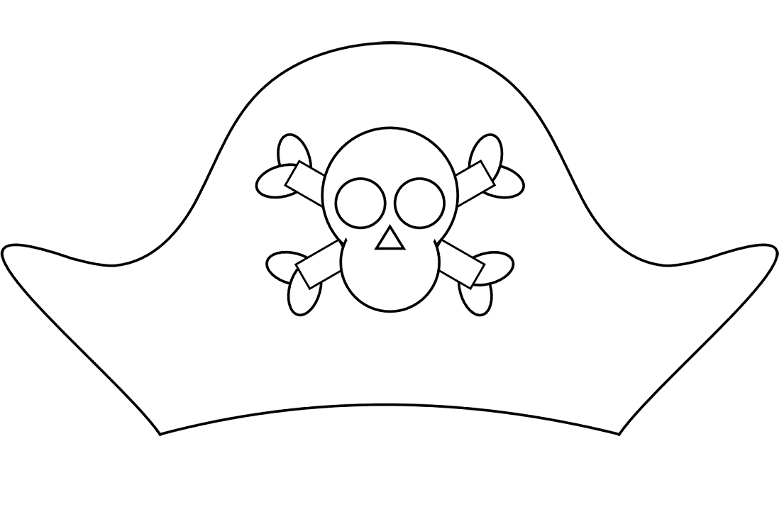 Pirate hat coloring page