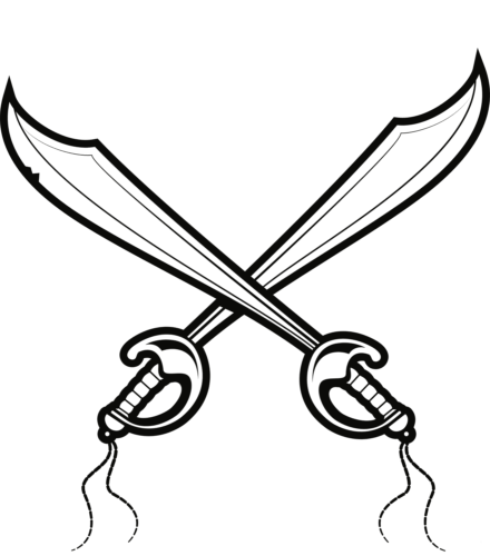 Pirate sword coloring page