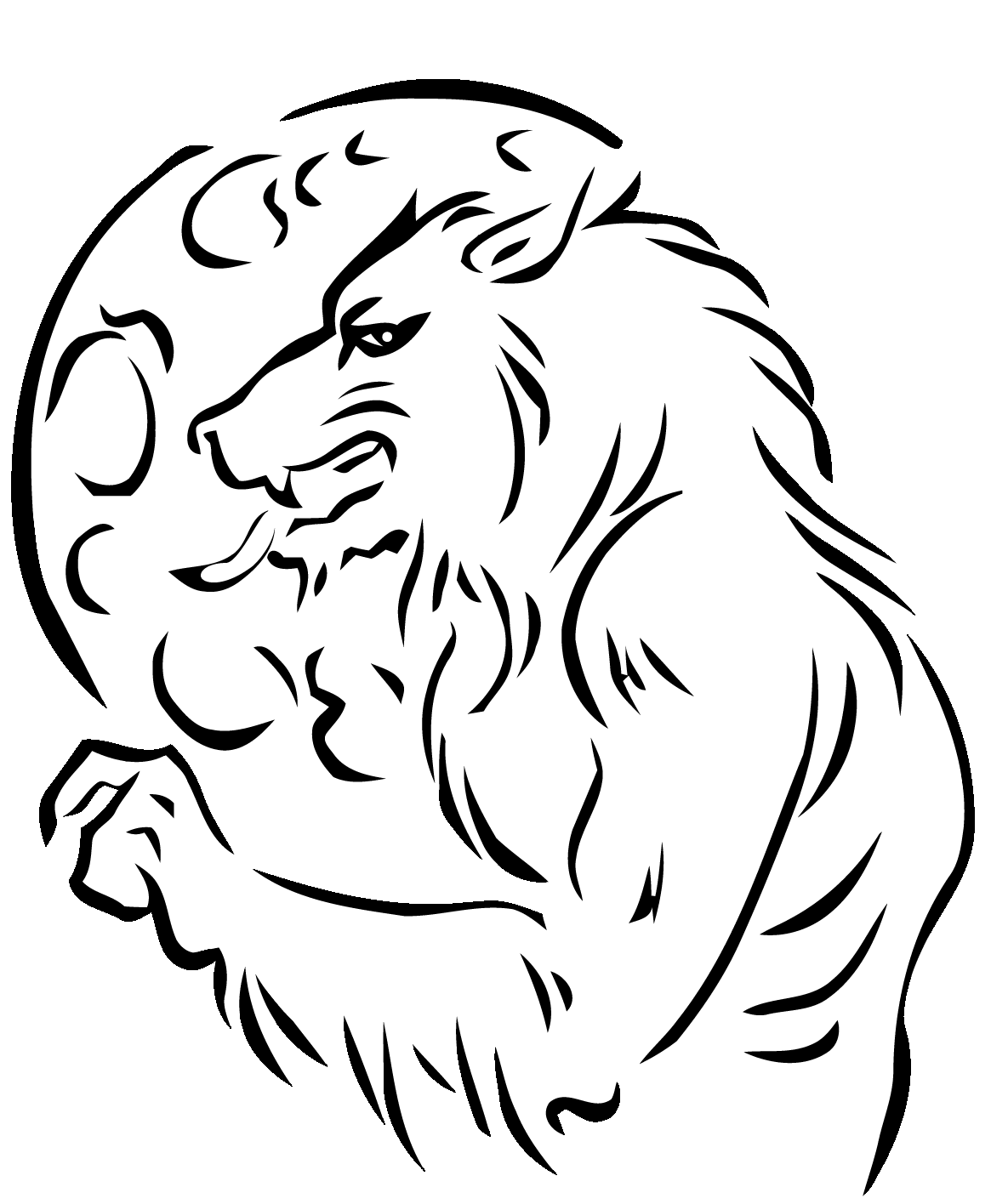 Werewolf and the wolf coloring page
