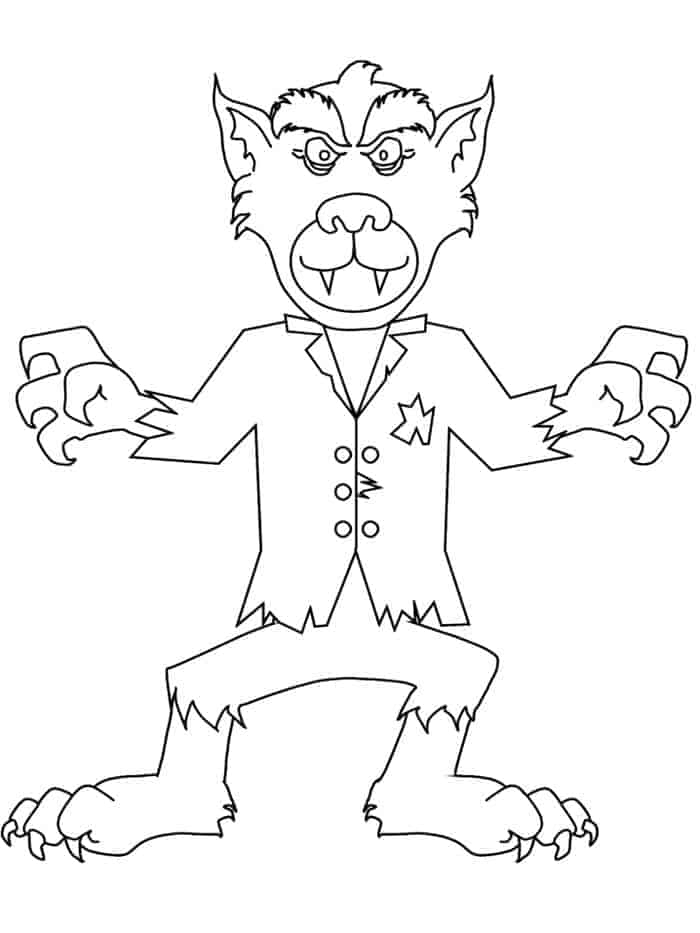Werewolf coloring pages for kids