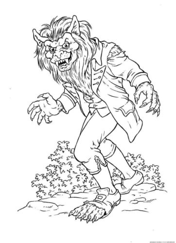 Werewolf colouring pages
