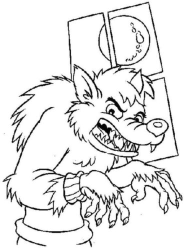 Werewolf sneaking into peoples house