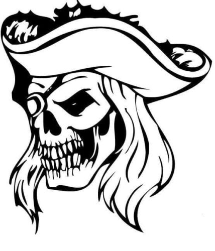 Zombie pirate coloring page