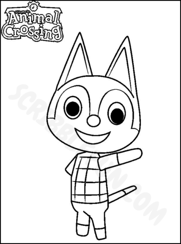Animal Crossing Rudy coloring page