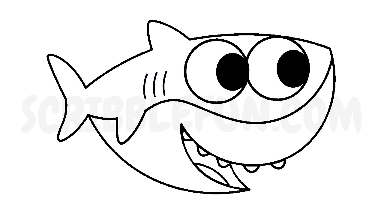 Baby Shark coloring in