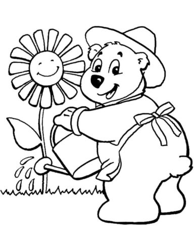 Bear coloring pages to print