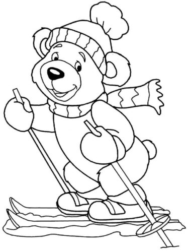 Bear colouring pages