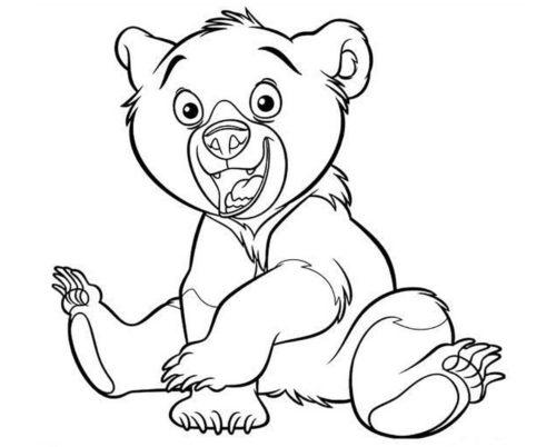 Bear cub coloring sheet