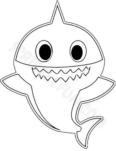 Daddy Shark coloring page