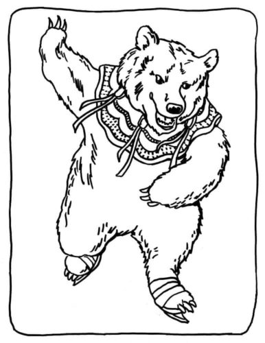 Free bear coloring pages printable