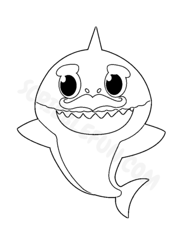 Grandpa Shark coloring page