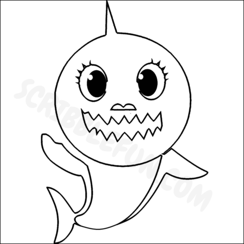 Mommy Shark coloring page