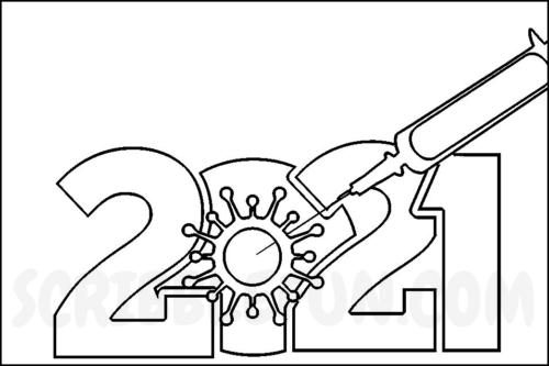 New Year 2021 coloring in