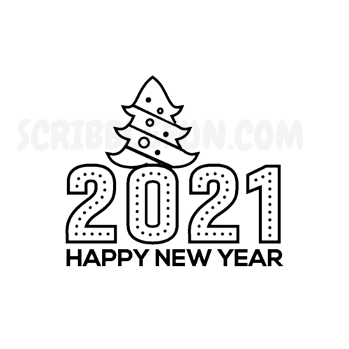 New Year 2021 coloring pages printable