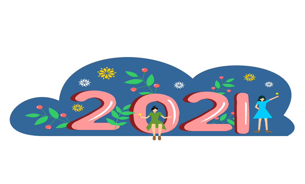 New Year 2021 coloring
