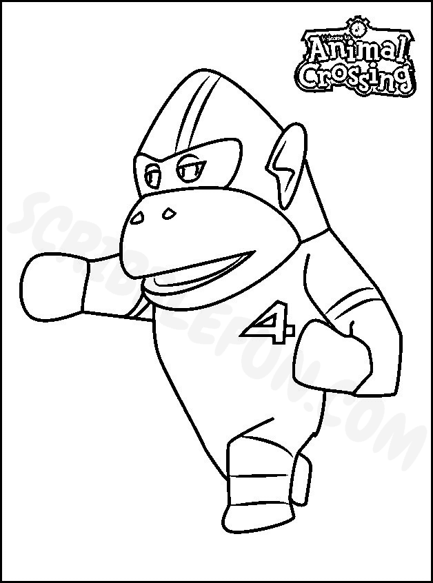 Rocket from Animal Crossing coloring page to print