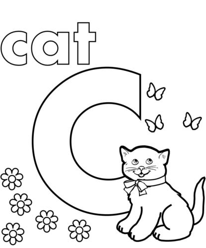 Alphabet C coloring page