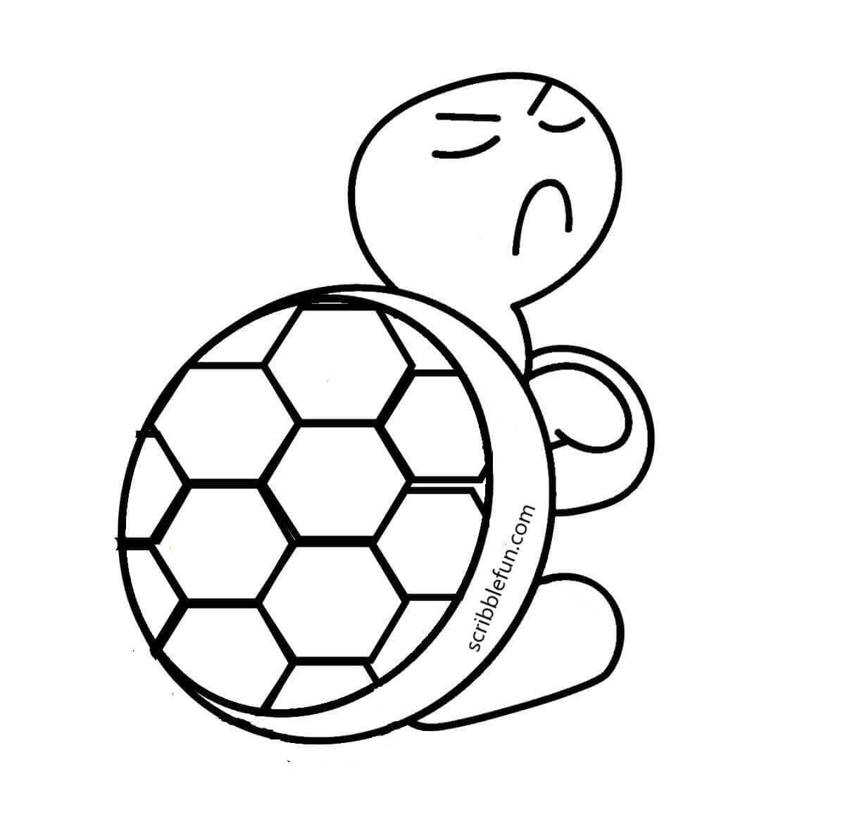 Angry turtle coloring page
